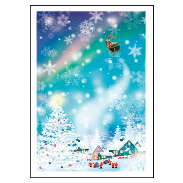 Greeting Life Mini Santa Christmas Card S-361