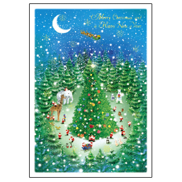 Greeting Life Mini Santa Christmas Card S-367