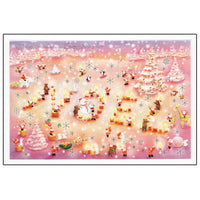 Greeting Life Mini Santa Christmas Card S-384