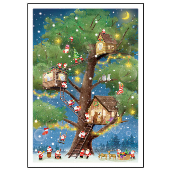 Greeting Life Mini Santa Christmas Card S-386
