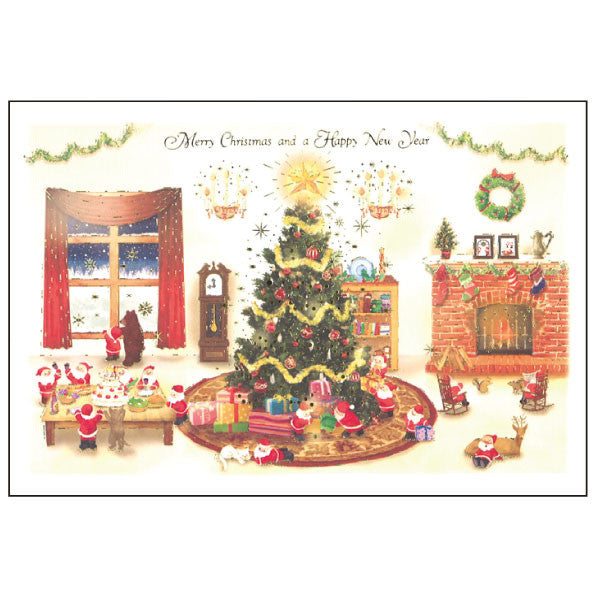 Greeting Life Mini Santa Christmas Card S-391
