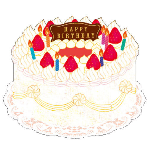 Greeting Life Pocket Cake Card Strawberry SE-3