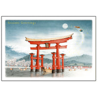 Greeting Life Japanese Style Mini Santa Christmas Card SJ-10