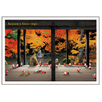 Greeting Life Japanese Style Mini Santa Christmas Card SJ-55