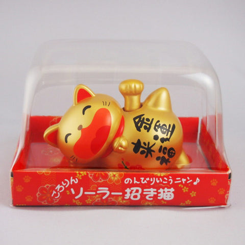 Solar Powered Gororin Manekineko Gold