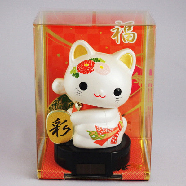 Solar Powered Baby Manekineko Chrysanthemum