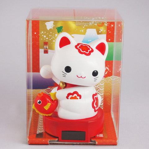Solar Powered Baby Manekineko Happy