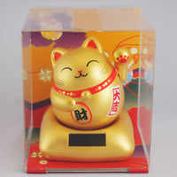 Solar Powered Maru Maru Happy Manekineko Gold