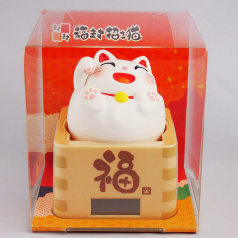 Solar Powered Masu Masu Manekineko White