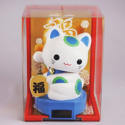 Solar Powered Baby Manekineko Blue