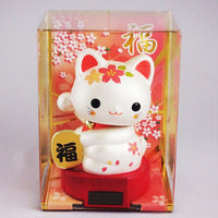 Solar Powered Baby Manekineko Cherry Blossoms