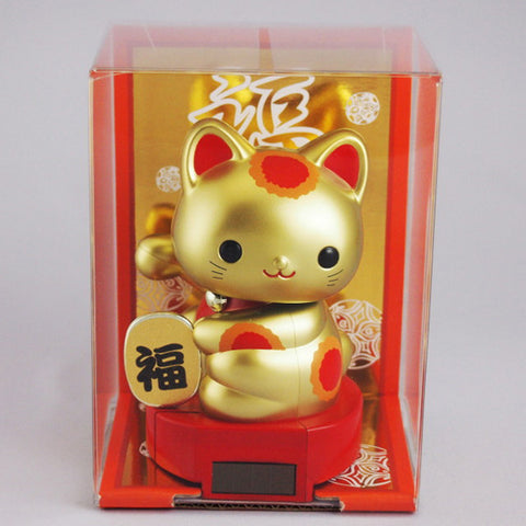 Solar Powered Baby Manekineko Gold