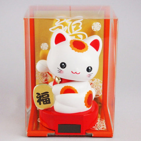 Solar Powered Baby Manekineko Red Tear-filled eyes
