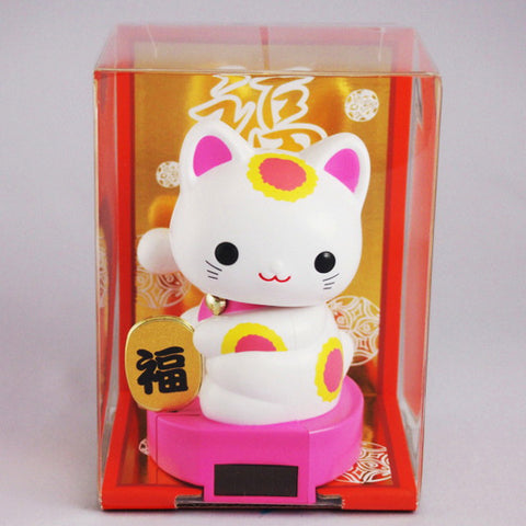 Solar Powered Baby Manekineko Pink