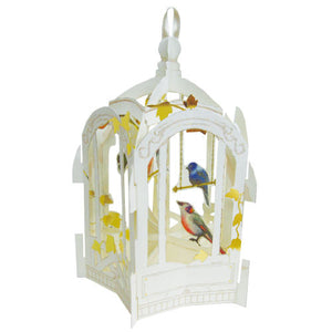Greeting Life Bird Cage Card White TK-10