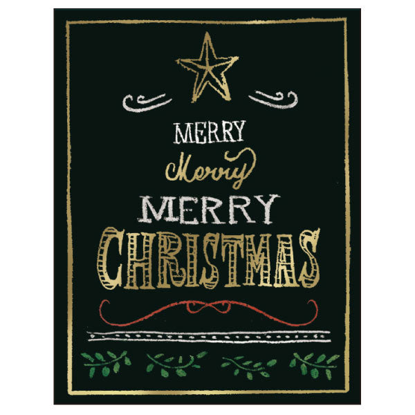 Greeting Life Christmas Blackboard Mini Card TK-14