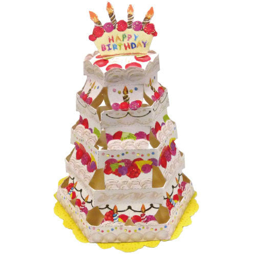 Greeting Life Cake Tower Card Happy Birthday TK-3