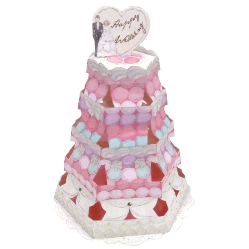 Greeting Life Cake Tower Card Happy Wedding TK-4