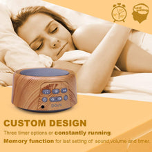Load image into Gallery viewer, Sleep Sound Machine - White Noise Machine with 24 Soothing Sounds for Sleeping & Relaxation, Timer & Memory Function, Sleep Therapy for Kid, Adult, Nursery, Home, Office, Travel. Wood Grain