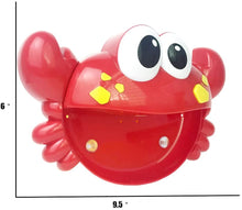Load image into Gallery viewer, Baby Bath Bubble Toy Bubble Crab Bubble Blower Bubble Machine Bubble Maker with Nursery Rhyme Bathtub Bubble Toys for Infant Baby Children Kids Happy Tub Time