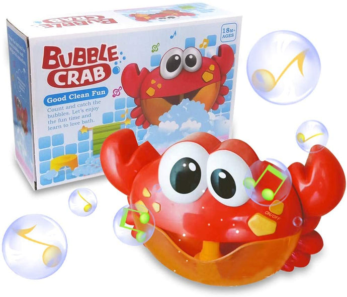 Baby Bath Bubble Toy Bubble Crab Bubble Blower Bubble Machine Bubble Maker with Nursery Rhyme Bathtub Bubble Toys for Infant Baby Children Kids Happy Tub Time