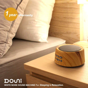 Sleep Sound Machine - White Noise Machine with 24 Soothing Sounds for Sleeping & Relaxation, Timer & Memory Function, Sleep Therapy for Kid, Adult, Nursery, Home, Office, Travel. Wood Grain