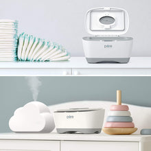 Load image into Gallery viewer, Pure Baby Wipe Warmer with Digital Display - Easy-Feed Dispenser with 3 Heat Settings, LCD Display, 80 Wipe Capacity, Naturally Steam Heated for Maximum Comfort and Safety for Baby