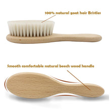 Load image into Gallery viewer, Eco Friendly Wooden Baby Brush Set