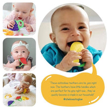 Load image into Gallery viewer, 5 Organic Baby Teething Toys