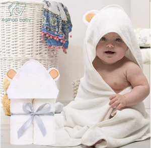 Organic Bamboo Hooded Baby Towel and Free Washcloth