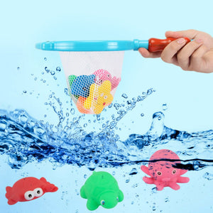 Eco-Friendly 9 Piece Animal Squirt and Squeak Baby Bath Toys