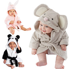 Load image into Gallery viewer, Eco-Totz Soft Comfy Hooded Bath Robes