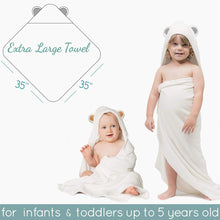 Load image into Gallery viewer, Organic Bamboo Hooded Baby Towel and Free Washcloth