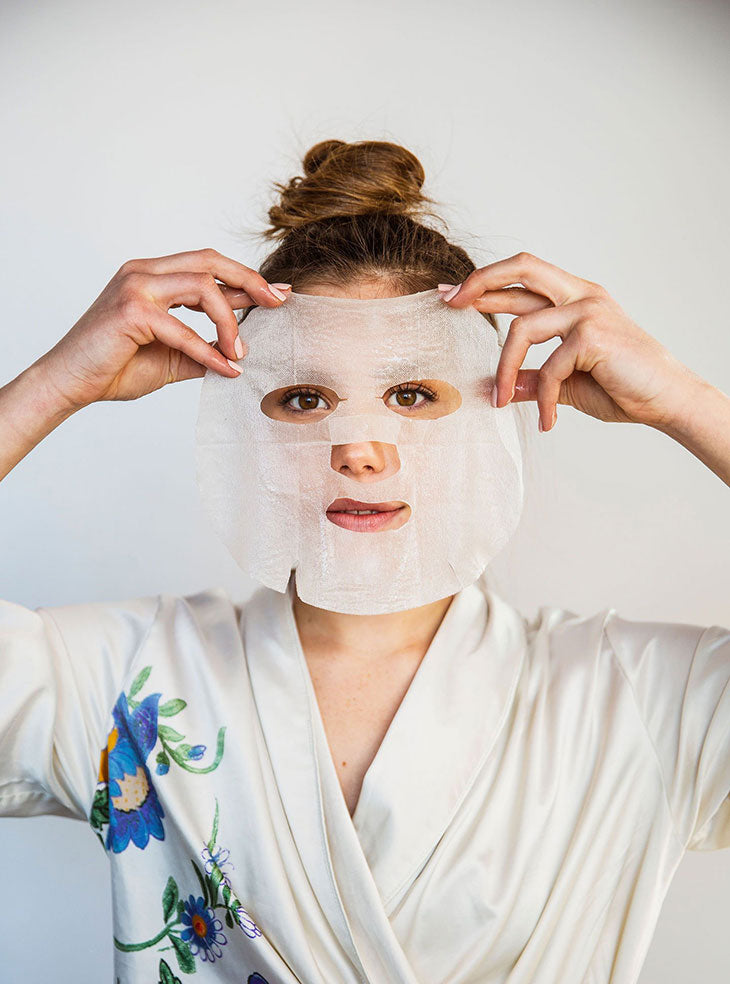 clean beauty, korean beauty, sheet mask, sheet masks, kbeauty, sheet mask help up to girl's face