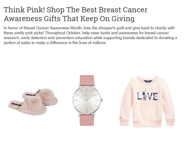 Best Breast Cancer Awareness Gifts