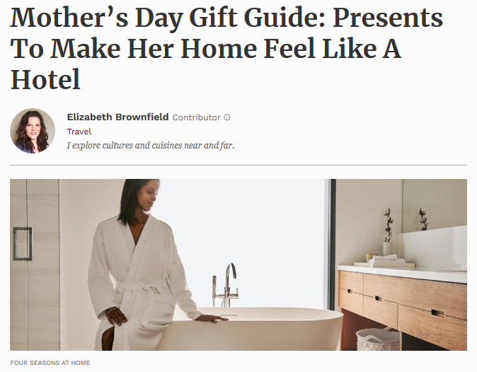 Mother's Day Gift Guide: Presents To Make Her Home Feel Like A Hotel