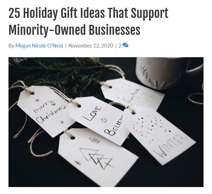 25 Holiday Gift Ideas That Support Minority-Owned Businesses