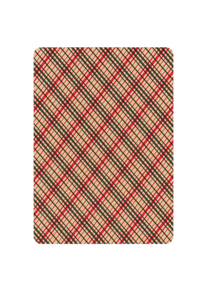 Vintage Plaid Playing Cards