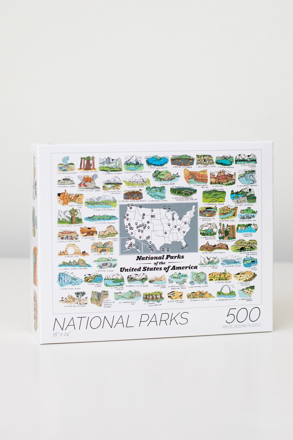 62 US National Parks Puzzle