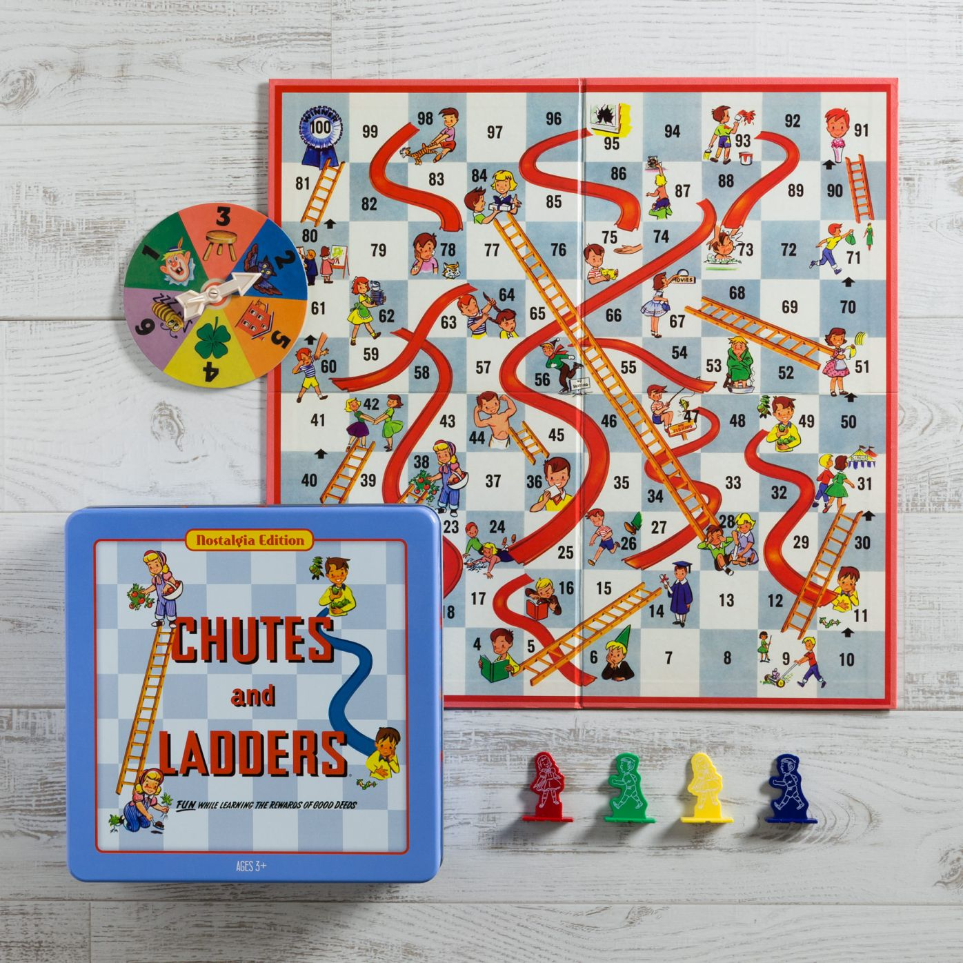 Chutes and Ladders Nostalgia Tin