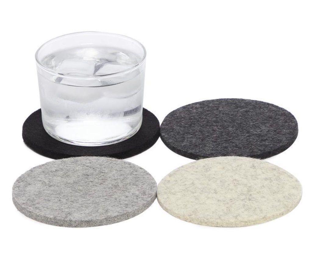 Bierfilzl Round Multi Color Felt Coaster