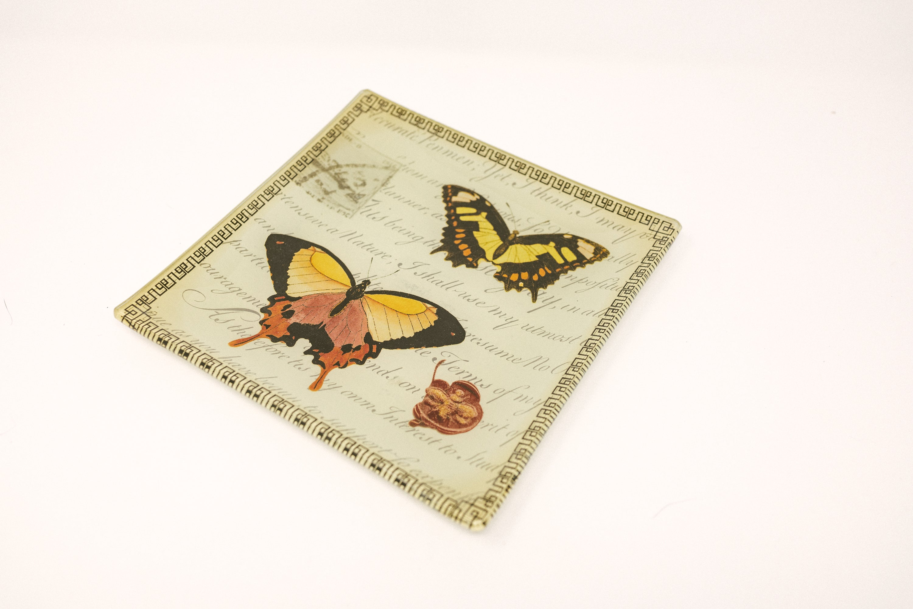Two Butterfly Plate