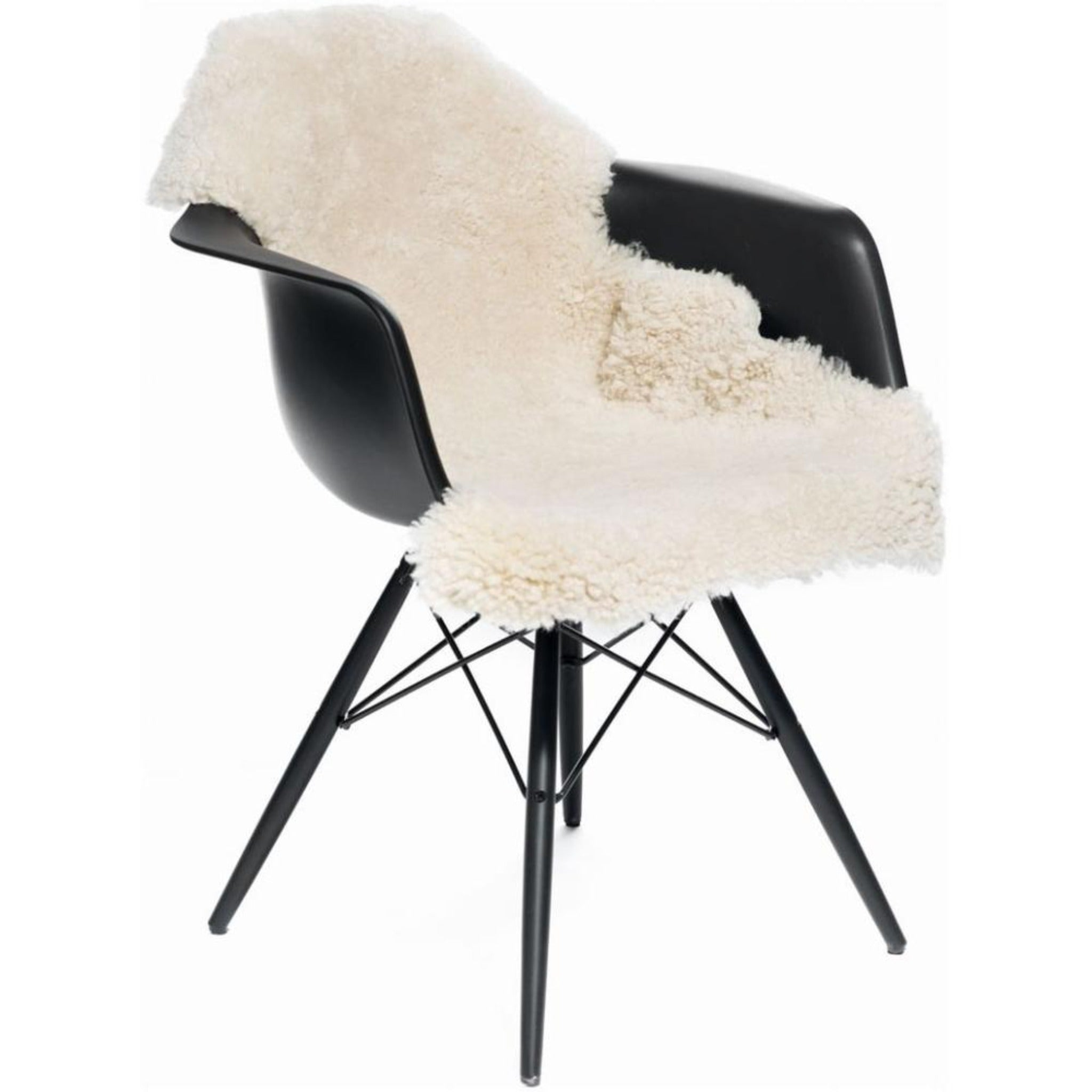 Short-Wool Curly Sheepskin Rug - 35in