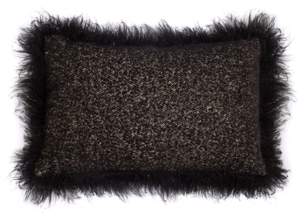 Winters Pillow - Natural + Black