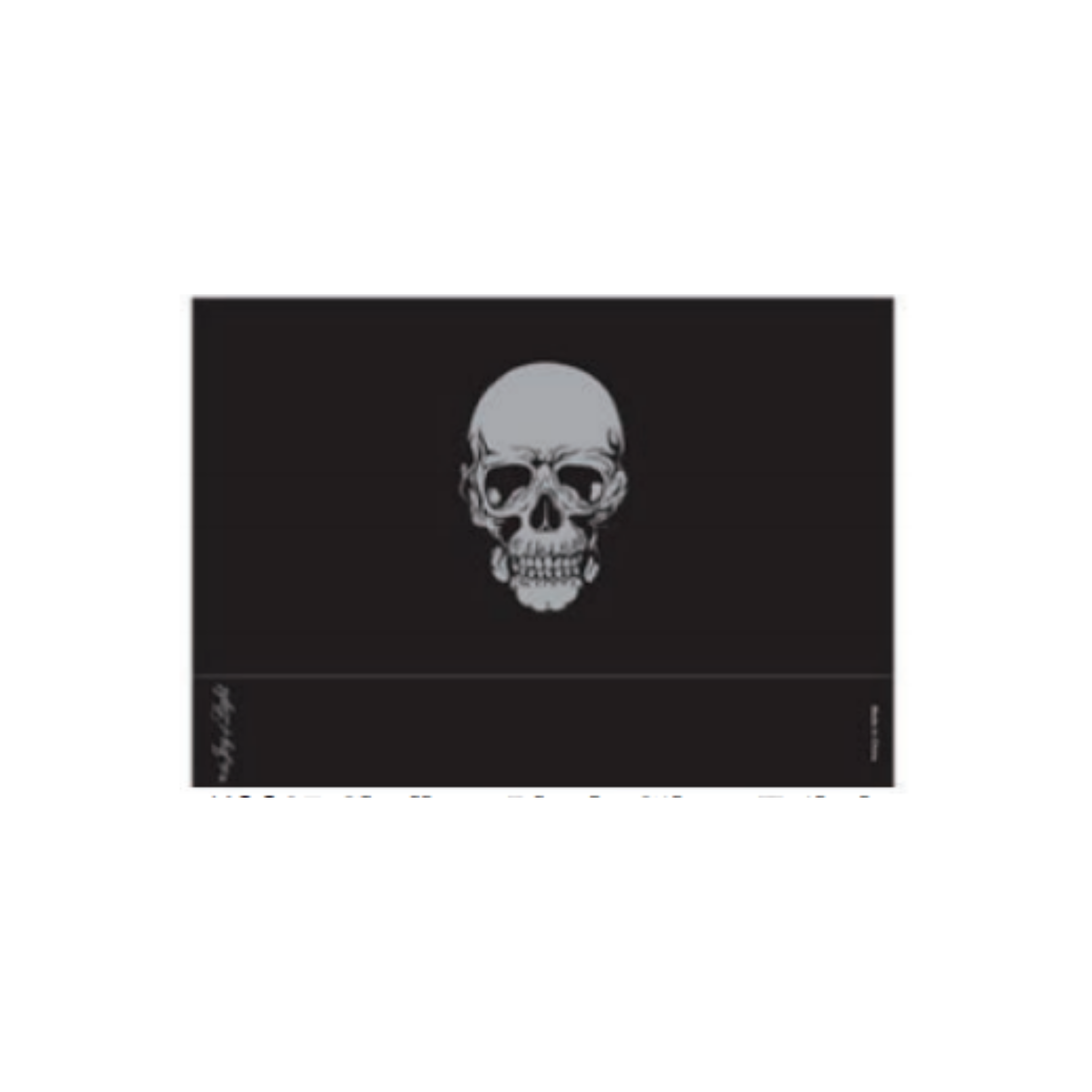 Skull Black Matchbox