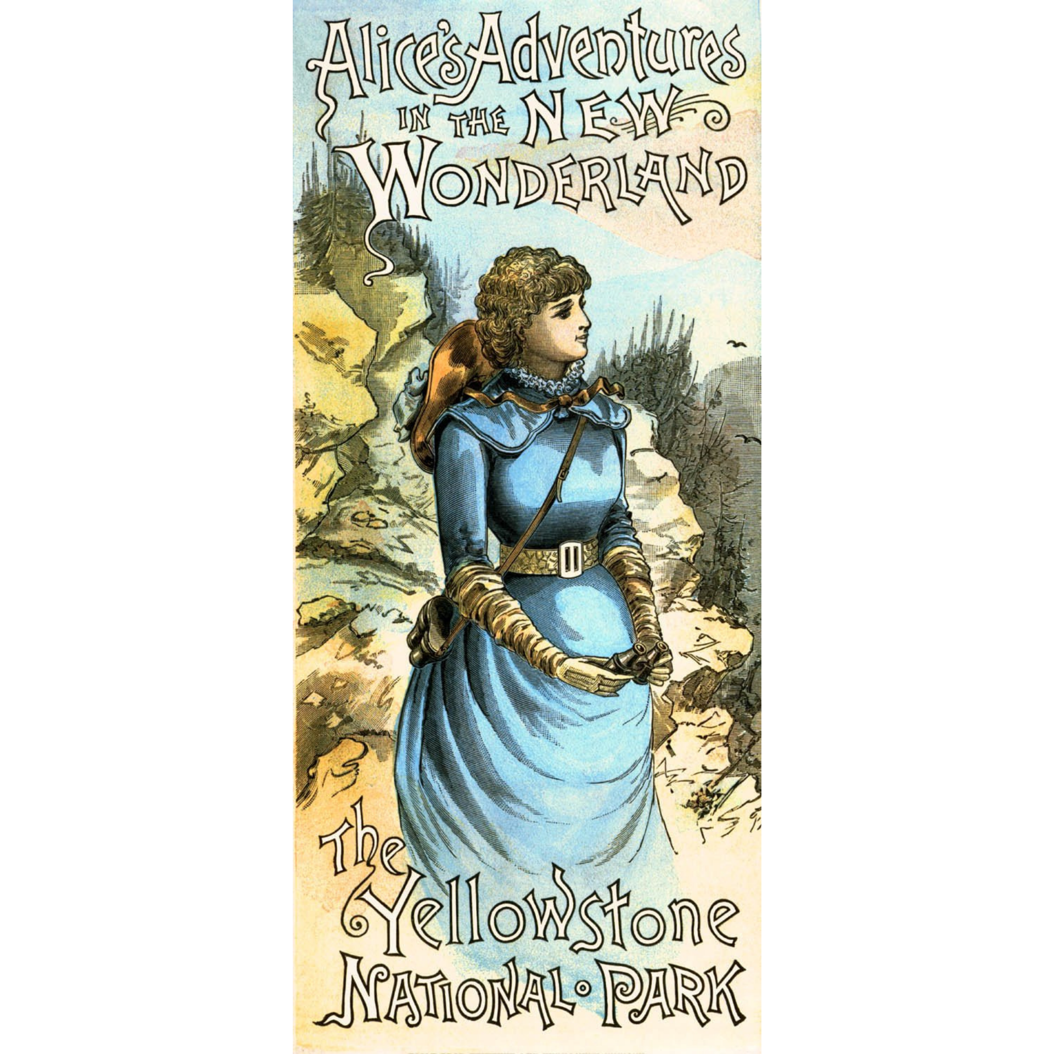 Alice in the New Wonderland: YNP - ca. 1884 Chromolithograph (Cropped Print)