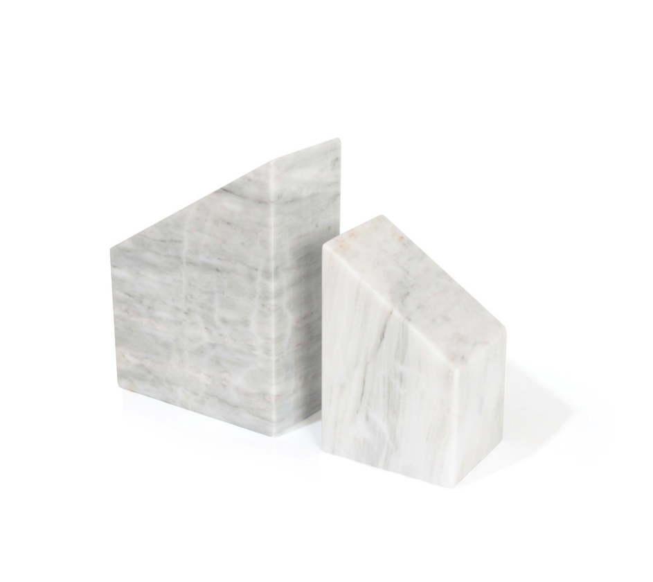 Bookends - White Marble