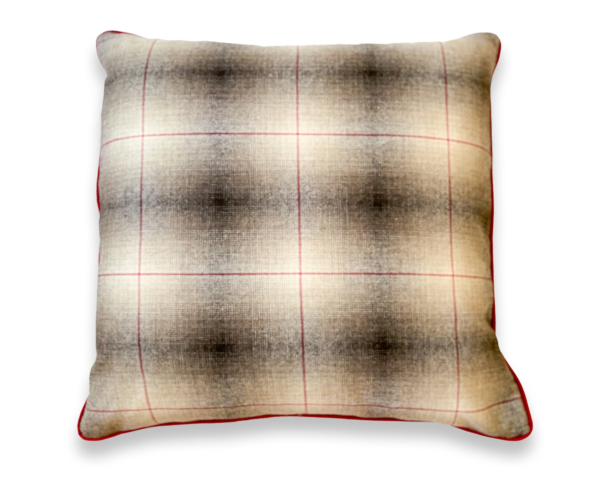Brown + Red Plaid Pillow