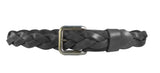 """Charcoal"" Braided Leather Belt"
