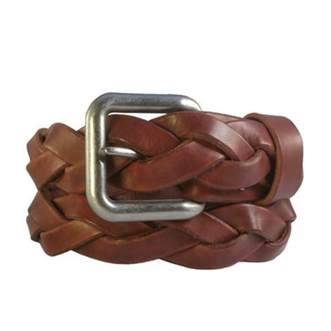 """Canyon Tan"" Braided Leather Belt"